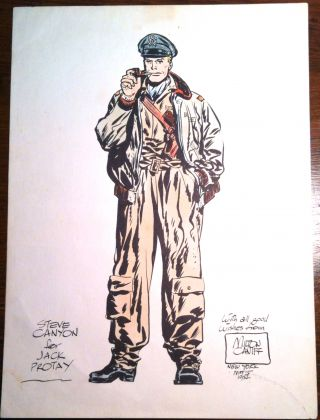 STEVE CANYON; for Jack Protey. Cartoon, Milt Caniff