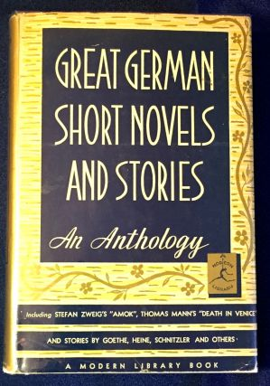 GREAT GERMAN SHORT NOVELS AND STORIES; Edited by Bennett A. Cerf. German Literature, Bennett A. Cerf