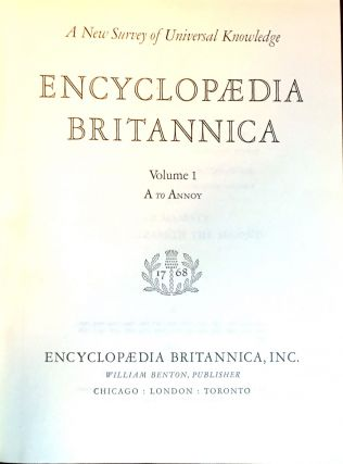 The Encyclopedia Britannica; A New Survey of Universal Knowledge