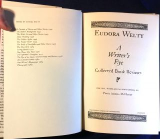 A WRITER'S EYE; Collected Book Reviews / Edited, with an Introduction, by Pearl Amelia McHaney