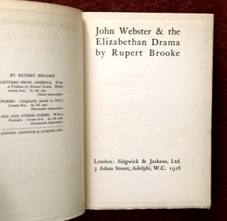 JOHN WEBSTER & THE ELIZABETHAN DRAMA