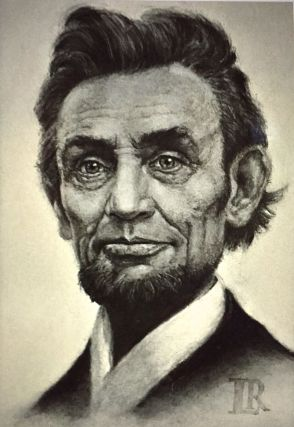 Portrait of LINCOLN'S HEAD in Charcoal