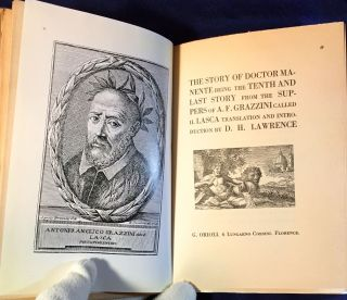THE STORY OF DOCTOR MANENTE being the TENTH AND LAST STORY from the SUPPERS of A.F. GRAZZINI...