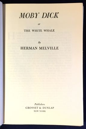 MOBY DICK; or The White Whale