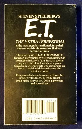 E.T.; The Extra Terrestrial / in his adventure on earth