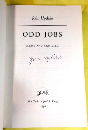 ODD JOBS; Essays and Criticism