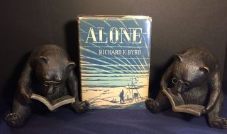 ALONE; Decorations by Richard E. Harrison. Richard E. Byrd
