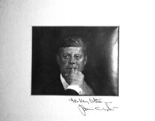 Signed Photograph of JAMIE WYETH Painting of JFK. Jamie WYETH