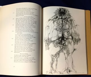BEOWULF; Translated with an Introduction & Afterword by BURTON RAFFEL / Drawings by LEONARD BASKIN