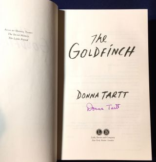THE GOLDFINCH [Pulitzer Prize for Fiction]; A Novel [Limited Edition: Signed with Slipcase & Pamphlet]