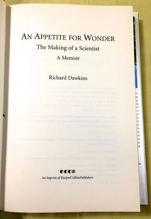 AN APPETITE FOR WONDER; The Making of a Scientist / A Memoir