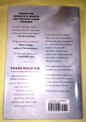 TEXAS HOLD'EM; Edited by George R. R. Martin; assisted by Melinda M. Snodgrass / A Wild Cards Mosaic Novel / Written by David Anthony Durham, Max Gladstone, Victor Milán, Diana Rowland, Walton Simmons, Caroline Spector, William F. Wu