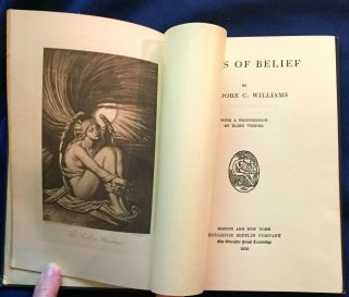 POEMS OF BELIEF; By Theodore C. Williams / With a Frontispiece by Elihu Vedder. Theodore C. Williams