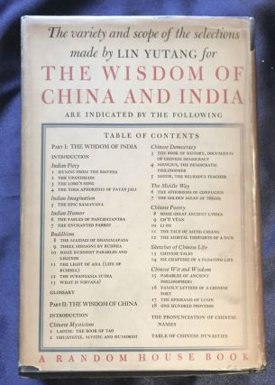 THE WISDOM OF CHINA AND INDIA; Edited by Lin Yutang