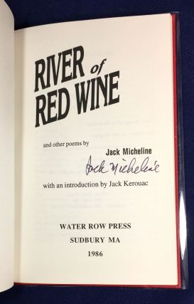 RIVER OF RED WINE; and other poems / with an introduction by Jack Kerouac