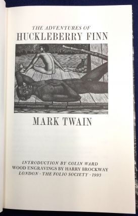 HUCKLEBERRY FINN; Introduction by Colin Ward / Wood engravings by Harry Brockway. Mark Twain