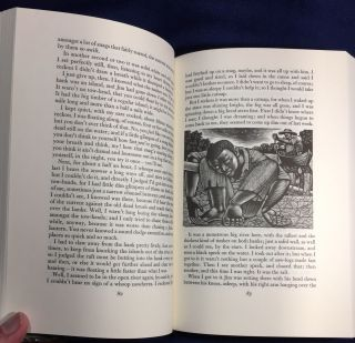 HUCKLEBERRY FINN; Introduction by Colin Ward / Wood engravings by Harry Brockway.