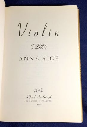 VIOLIN; Anne Rice