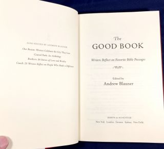 THE GOOD BOOK; Writers Reflect on Favorite Bible Passages