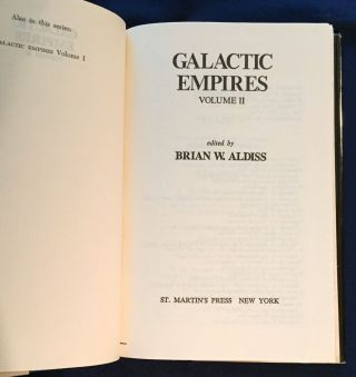 GALACTIC EMPIRES; edited by Brian W. Aldiss