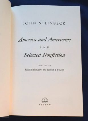 AMERICA and AMERICANS and SELECTED NONFICTION; Edited by Susan Shillinghaw and Jackson J. Benson
