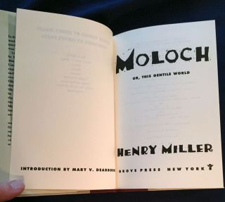 MOLOCH; or, This Gentile World / Introduction by Mary V. Dearborn