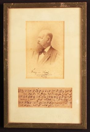 VON SUPPE: HANDWRITTEN MUSIC with Notations. Composer, Franz Von Suppe