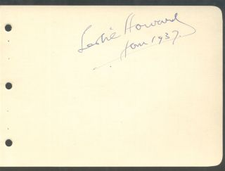 LESLIE HOWARD: SIGNED ALBUM LEAF; dated Jan. 1937. Gone With The Wind, Leslie Howard