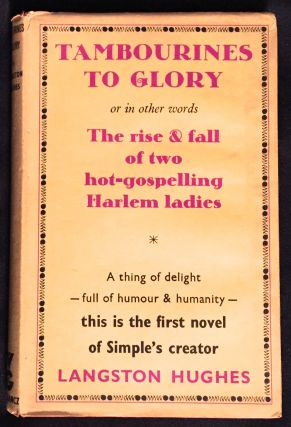 TAMBOURINES TO GLORY.; a novel by Langston Hughes