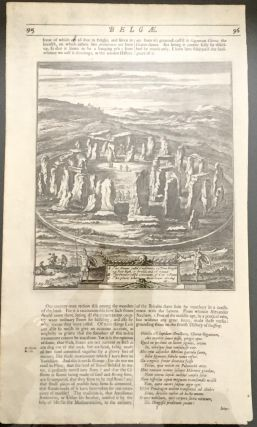 Woodcut of Stonehenge; from Belgae. Print, William Camden