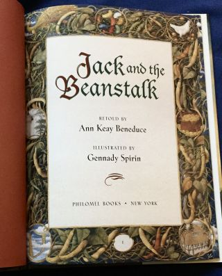 JACK AND THE BEANSTALK; Retold by Ann Keay Beneduci / Illustrated by Gennady Spirin