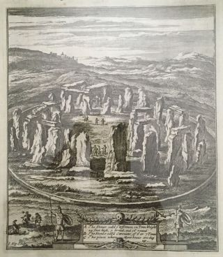 Woodcut of Stonehenge; from Belgae