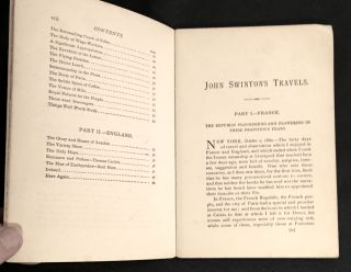 JOHN SWINTON'S TRAVELS ... & ALS by Swinton; Current Views and Notes of FORTY DAYS in FRANCE and ENGLAND / By John Swinton