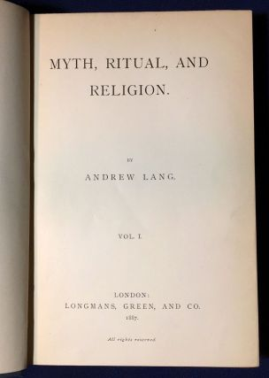 MYTH, RITUAL, AND RELIGION