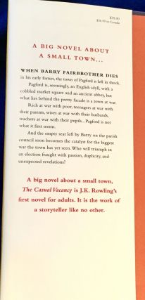 THE CASUAL VACANCY; and The Goblet of Fire / J.K. Rowling
