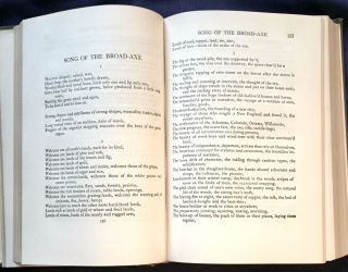 LEAVES OF GRASS / INCLUSIVE EDITION; By Walt Whitman / Edited by Emory Holloway / From the text of the edition authorized and editorially supervised by his literary executors, Richard Maurice Bucke, Thomas B. Harned, and Horace L. Traubel. / Edited by Emory Holloway