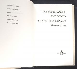 THE LONE RANGER AND TONTO FISTFIGHT IN HEAVEN; Sherman Alexie