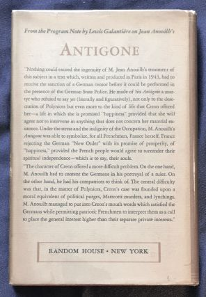 ANTIGONE; Adapted [from the French] by Lewis Galantiere / From the Play by Jean Anouilh