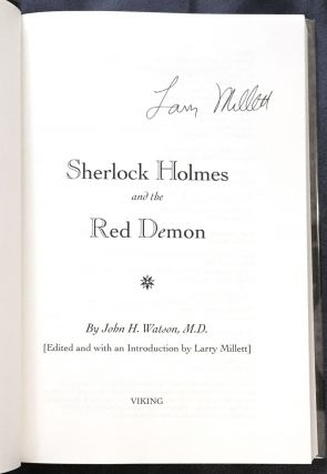 SHERLOCK HOLMES AND THE RED DEMON ; By John H. Watson, M.D. / [Edited and with an Introduction by Larry Millett]