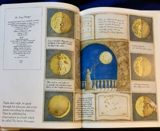 STARRY MESSENGER; A book depicting the life of a famous scientist - mathematician - astronomer - philosopher - physicist GALILEO GALILEI / Created and illustrated by Peter Sis / for Francis Foster Books / at Farrar Strauss Giroux
