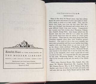 WUTHERING HEIGHTS; Introduction by Rose Macaulay