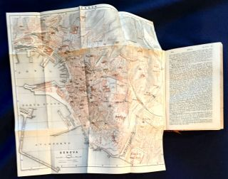 NORTHERN ITALY; Including Leghorn, Florence, Ravenna and Routes Through France, Switzerland, and Austria / Handbook for Travellers by Karl Baedeker / With 36 Maps, 45 Plans, and a Panorama