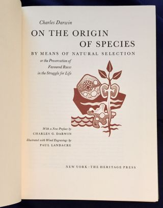 ON THE ORIGIN OF SPECIES; By Means of Natural Selection / or the Preservation of Favoured Races...