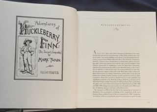 THE ANNOTATED HUCKLEBERRY FINN; Adventures of Huckleberry Finn (Tom Sawyer's Companion) by Mark Twain (Samuel L. Clemens) / Edited with an Introduction, Notes, and Bibliography by Michael Patrick Hearn / Illustrations by E. W. Kemble