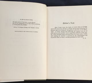 THE TRAVELS OF MARK TWAIN; Edited with an Introduction and Notes by Charles Neider