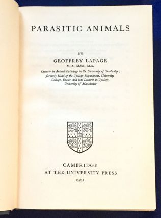 PARASITIC ANIMALS; Cambridge Library of Modern Science