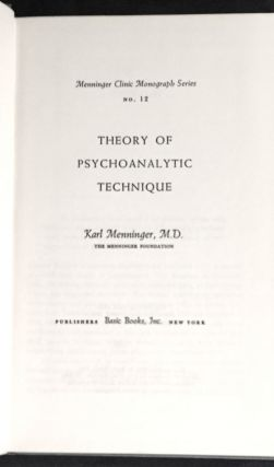 THEORY OF PSYCHOANALYTIC TECHNIQUES