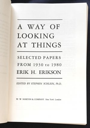 A WAY OF LOOKING AT THINGS; Selected Papers from 1930 to 1980 / Edited by Stephen Schlein, Ph.D.