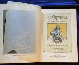 RIP VAN WINKLE; by Washington Irving / Pictures & Decorations by N. C. Wyeth