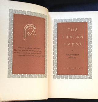 THE TROJAN HORSE; By Christopher Morley